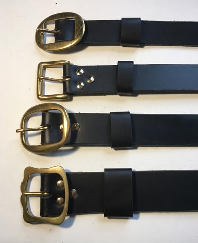 plain black leather belts